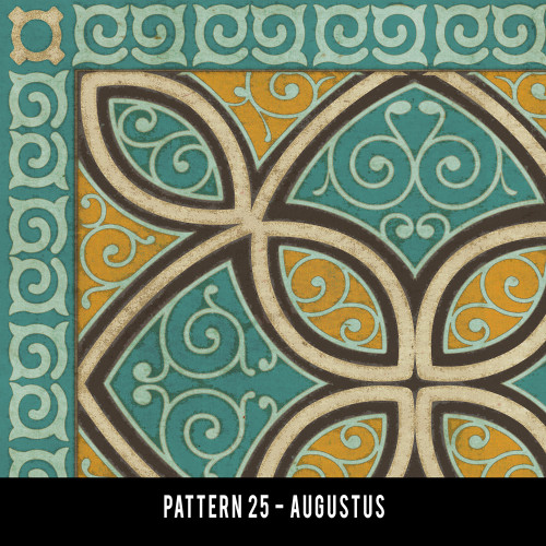 Swatches for Pattern 25 - vinyl floor cloths