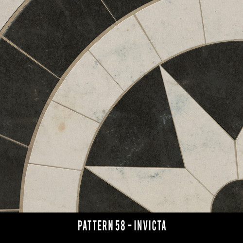Pattern 58 Invicta vinyl floor cloth swatch sample