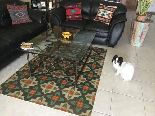 Pattern 33 Annas Garden Quick Ship - vinyl floor cloth