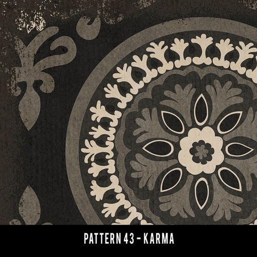 Pattern 43 Karma QS 30x44 - vinyl floor cloth