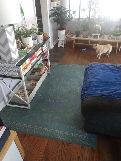 Pura Vida customer use of Enraptured I Gaze vinyl floor cloth