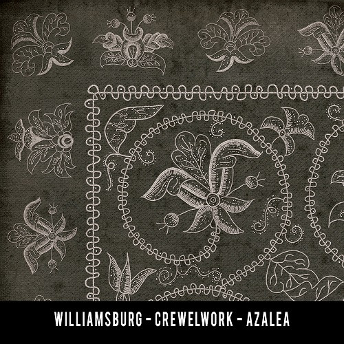 Swatches for Crewelwork - vinyl floor cloths