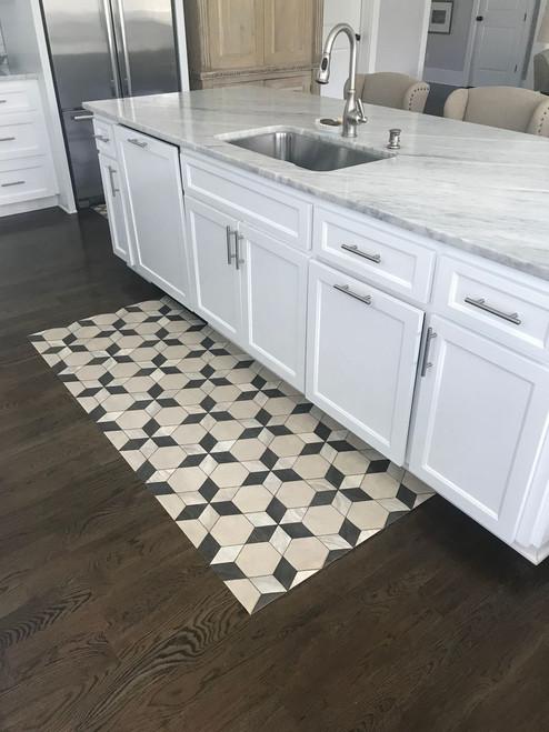 Pura Vida customer use of Starman vinyl floor cloth