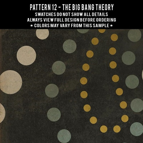 Pattern 12 The Big Bang Theory - vinyl floor cloth