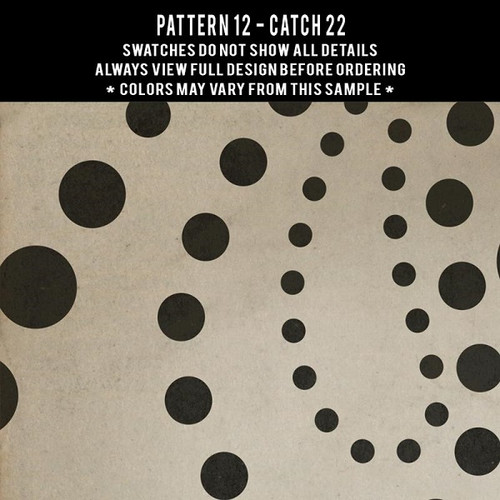 Pattern 12 Catch 22 - vinyl floor cloth