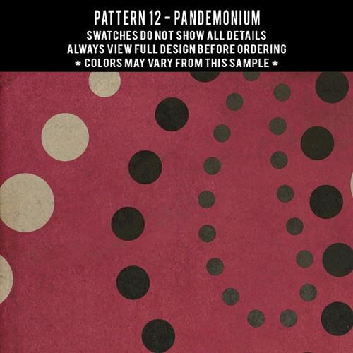 Pattern 12 Pandemonium - vinyl floor cloth