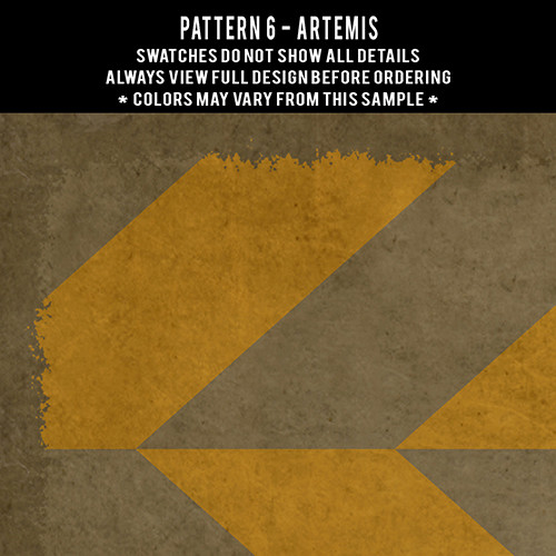 Pattern  6 Artemis - vinyl floor cloth