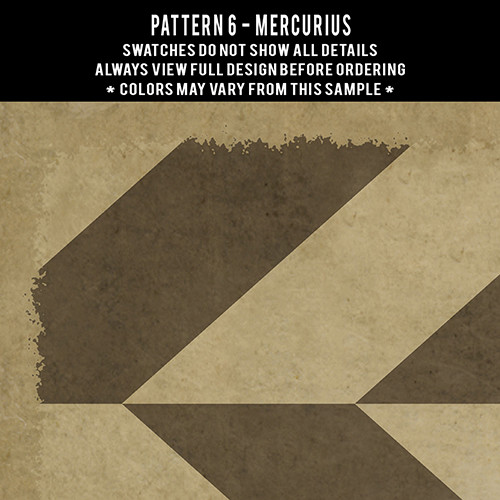 Pattern  6 Mercurius - vinyl floor cloth