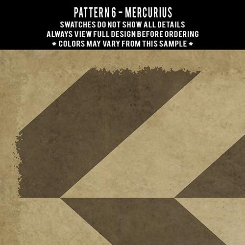 Pattern  6 Mercurius - vinyl floor cloth