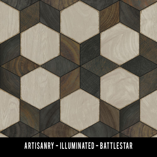 Swatches for Illuminated - vinyl floor cloth
