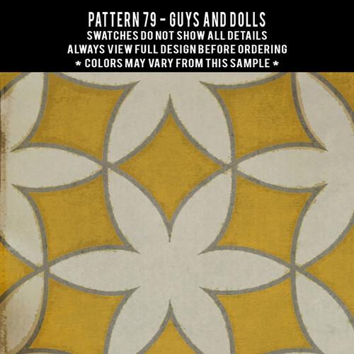 Pattern 79 Guys and Dolls - vinyl floor cloth