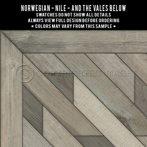 Swatches for Nile - vinyl floor cloth