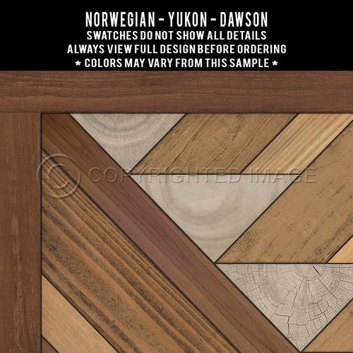 Swatches for Yukon - vinyl floor cloth