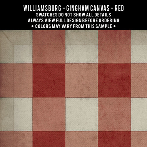 Gingham Canvas: Red - vinyl floor cloth