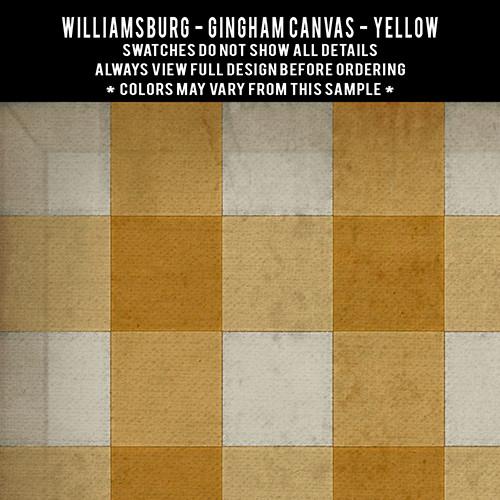 Gingham Canvas: Yellow - vinyl floor cloth