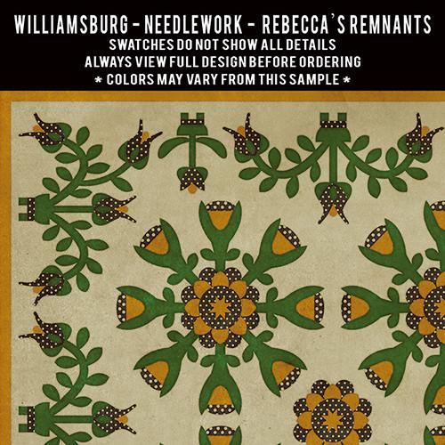 Needlework: Rebeccas Remnants - vinyl floor cloth