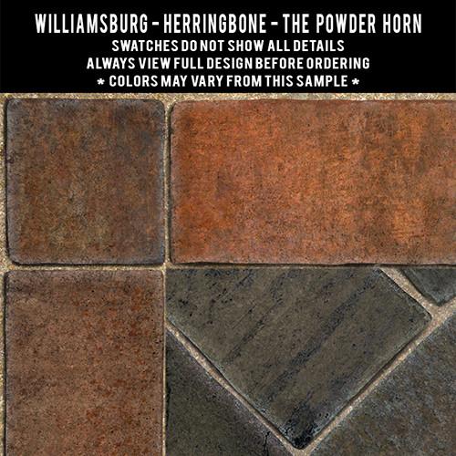 Herringbone Brick: The Powder Horn - vinyl floor cloth