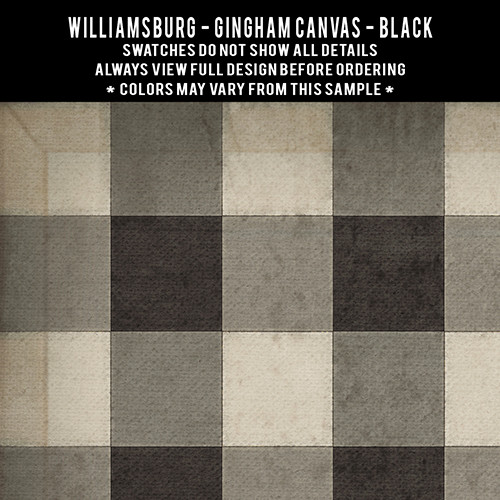 Swatches for Gingham Canvas - vinyl floor cloths
