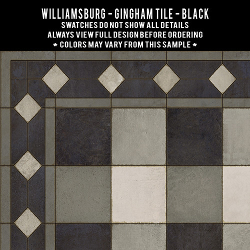 Swatches for Gingham Tile - vinyl floor cloths
