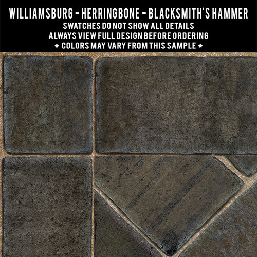 Swatches for Herringbone Brick - vinyl floor cloths