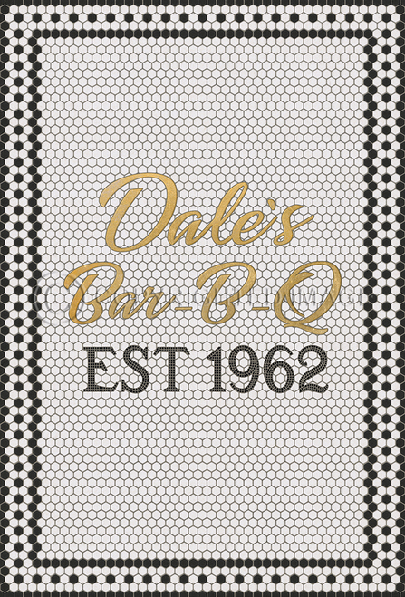 custom mosaic made for Dales Bar-B-Q in Fort Pierce, Florida