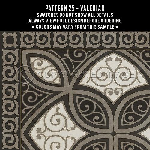Pattern 25 Valerian - vinyl floor cloth