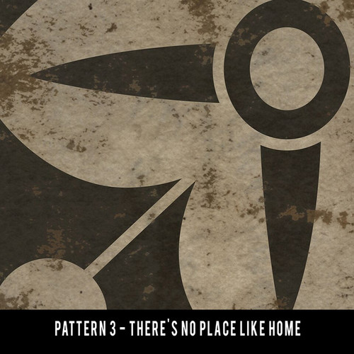 Pattern 3 There's No Place Like Home 30x108 - custom vinyl floor cloth
