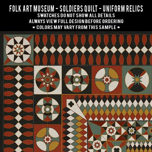 Soldiers Quilt: Uniform Relics - vinyl floor cloth