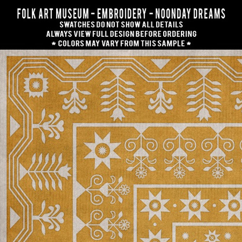 Embroidery: Noonday Dreams - vinyl floor cloth