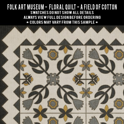Swatches for Floral Quilt - vinyl floor cloths