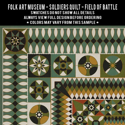 Swatches for Soldiers Quilt - vinyl floor cloths