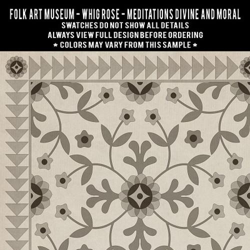 Whig Rose: Meditations Divine and Moral - vinyl floor cloth