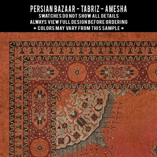 Swatches for Tabriz - vinyl floor cloths