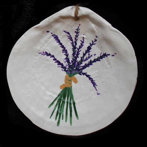 Hand Painted Scallop Shell - Lavender