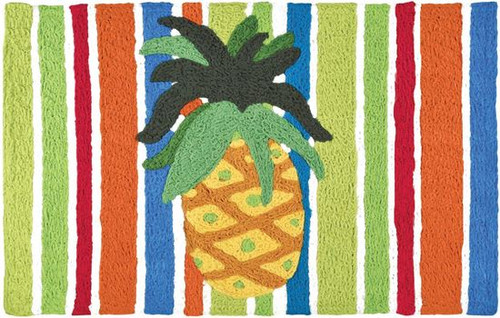 Pineapple on Watercolor Stripes