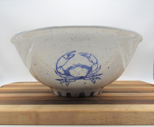 Medium round bowl crab - blue