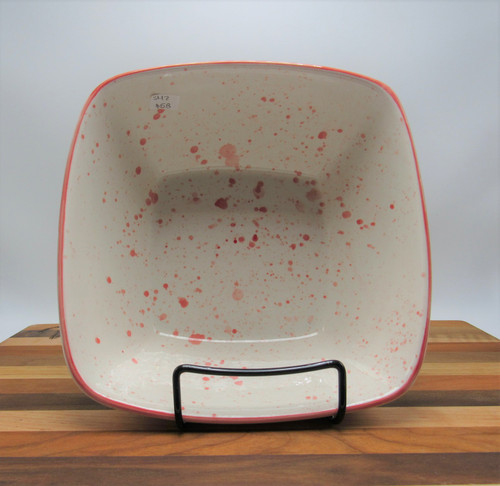 Square bowl lobster - red