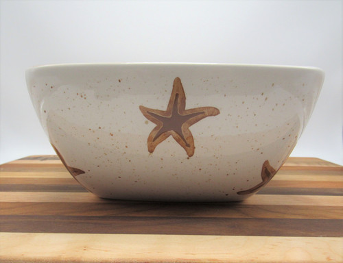 square starfish bowl brown
