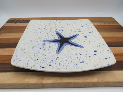 Square plate starfish - blue