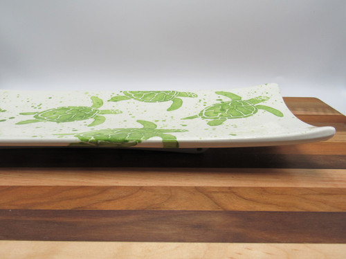 Medium rectangle platter turtle - green