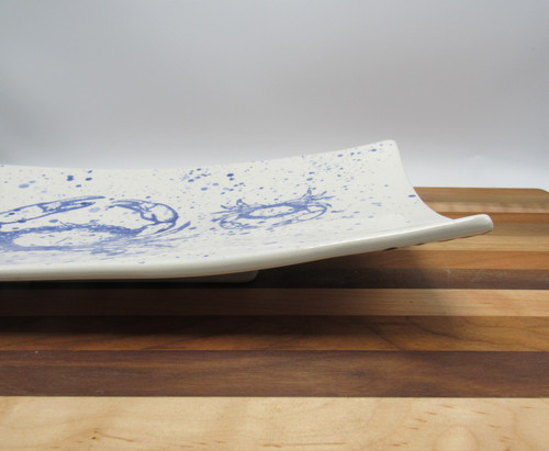 Large rectangle platter crab - blue