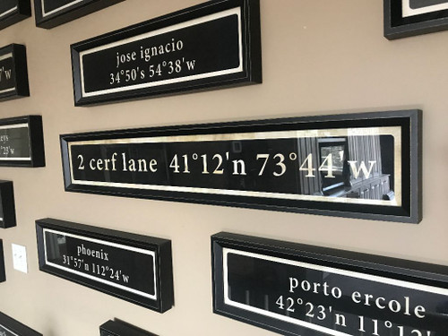 """2 sizes shown for coordinates. Middle is the 41"""" long."""