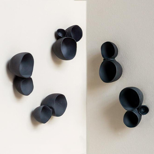 Wall Paly Trio - black set of 10