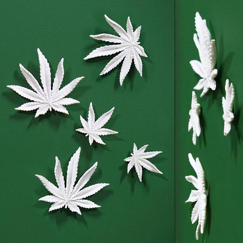 Wall Play Cannibis Leaf set of 10