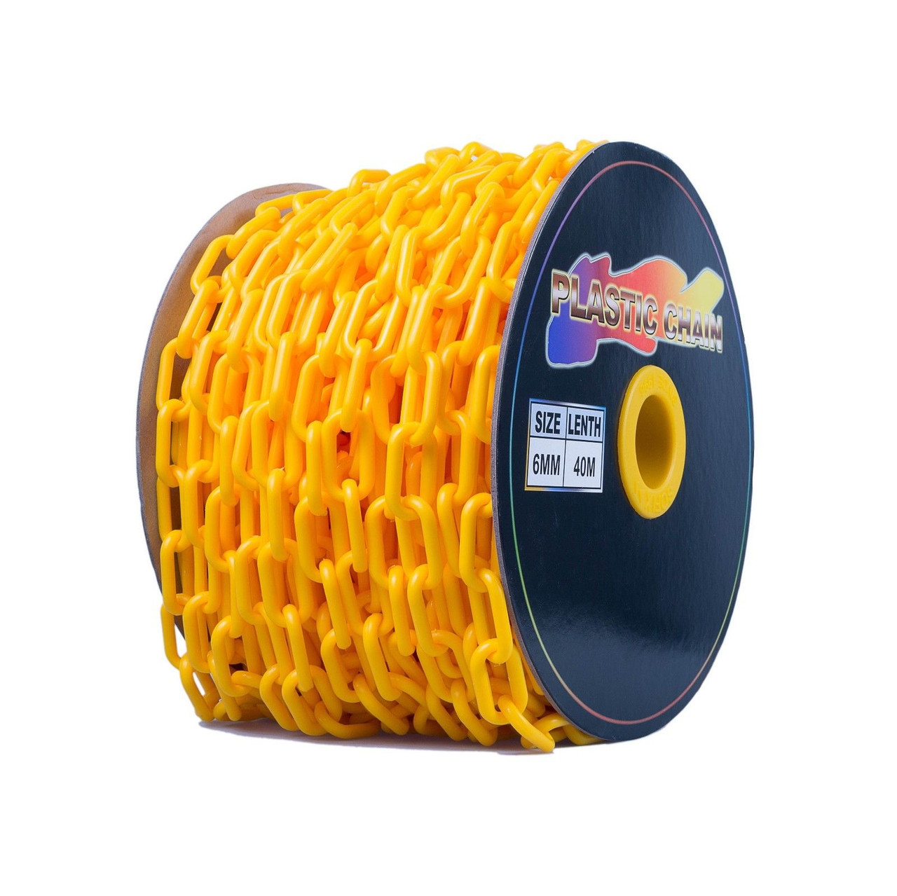 Yellow Plastic Chain - 6mm x 40m roll