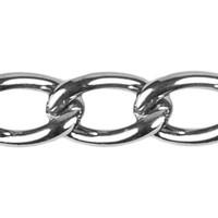 Curb Chain - 1.6mm - Chrome plated