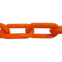 Plastic Chain 8mm Orange