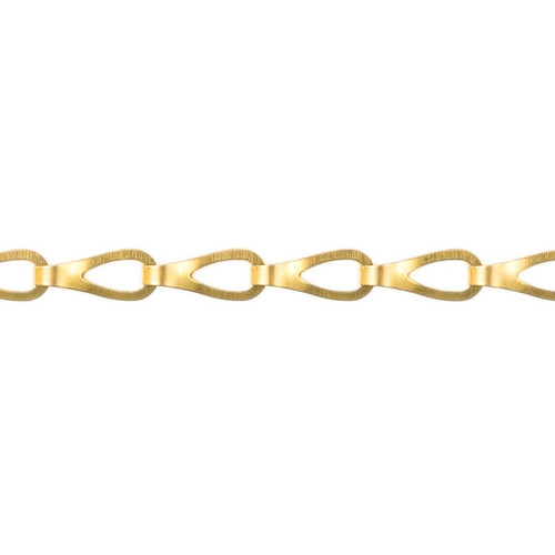 Sash Chain - 21.0mm  x 7.0mm - Polished Brass
