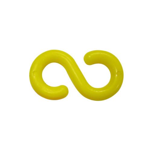 "Yellow Plastic ""S"" Hook Connectors - 6mm"