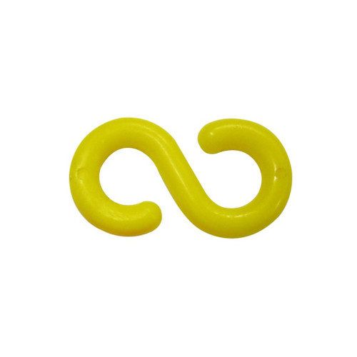 "Yellow Plastic ""S"" Hook Connectors - 8mm"